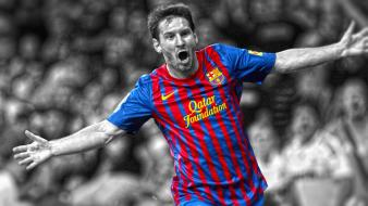 Soccer barcelona lionel messi hdr photography cutout wallpaper