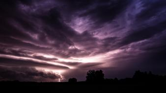 Storm darkness dreams lightning skyscapes bolts view Wallpaper