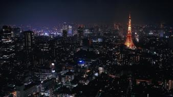 Tokyo cityscapes lights buildings wallpaper