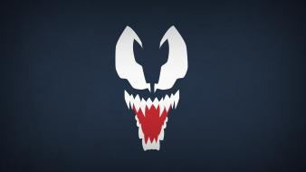 Venom marvel comics navy blue background villians blo0p wallpaper