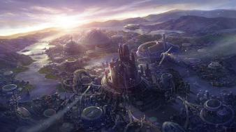Artwork cityscapes fans fantasy art wallpaper