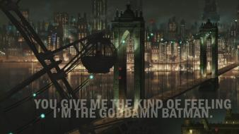 Batman goddamn gotham city bridges cityscapes wallpaper