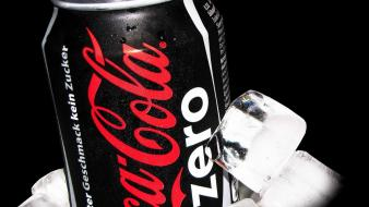 Cocacola coke zero drinks ice cubes Wallpaper