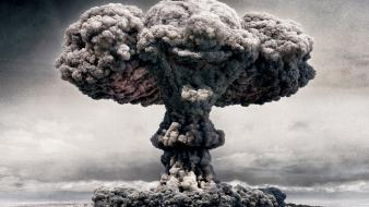Dust cloud atomic clowns explosions funny Wallpaper