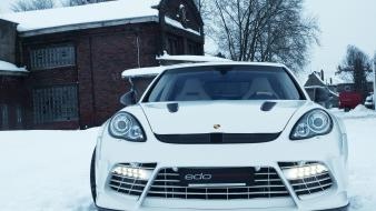 Edo competition moby dick porsche panamera snow turbo wallpaper