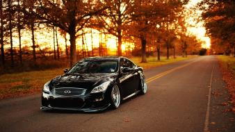 Infiniti g37 autumn black cars wallpaper