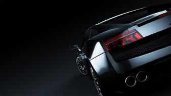 Lamborghini gallardo black cars dark Wallpaper