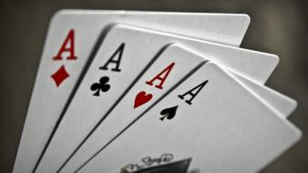 Ace cards macro playing wallpaper