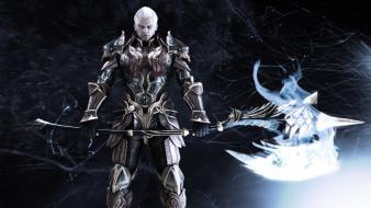 Aion mmo armor axes fans wallpaper