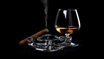 Alcohol cigarettes cigars drinks glass wallpaper