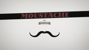Beard minimalistic moustache retro typography Wallpaper