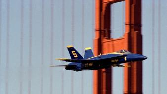 California golden gate bridge san francisco blue angels wallpaper