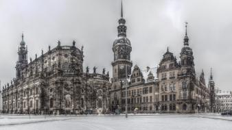Dresden german baroque churches wallpaper