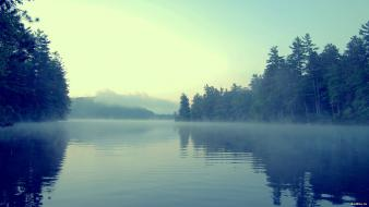 Fog lakes landscapes mist nature wallpaper
