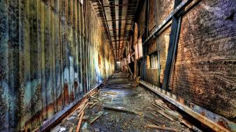 Hdr photography abandoned corridor decay postapocalyptic wallpaper