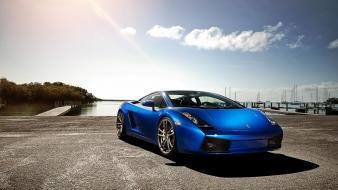 Lamborghini gallardo blue cars wallpaper