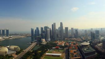 Marina bay sands singapore cityscapes Wallpaper