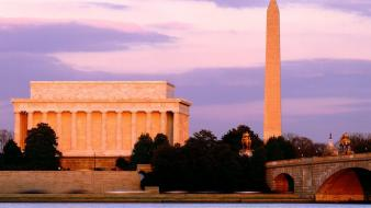 Obelisk washington dc bridges buildings monument wallpaper