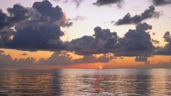 Pacific ocean clouds rain sea skyscapes wallpaper
