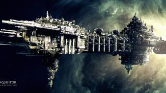 Warhammer 40000 outer space science fiction marines spaceships wallpaper