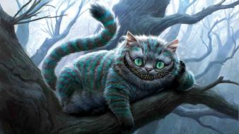 Alice in wonderland cheshire cat cats funny wallpaper