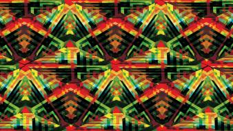 Andy gilmore cubes tribal Wallpaper