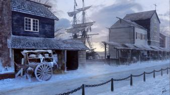 Assassins creed 3 artwork digital art wallpaper