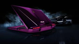 Asus lamborghini notebook violet wallpaper
