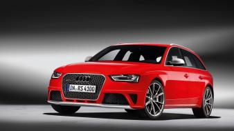 Audi rs4 avant cars red sports wallpaper