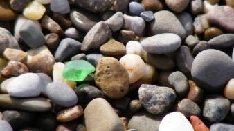 Beach glass nature pebbles stones wallpaper