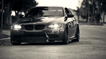 Bmw m3 cars grayscale lights wallpaper