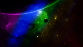 Colors outer space spectrum wallpaper