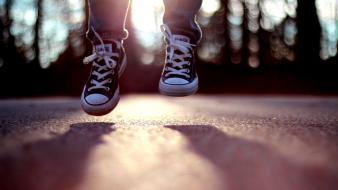 Converse jumping sunset wallpaper