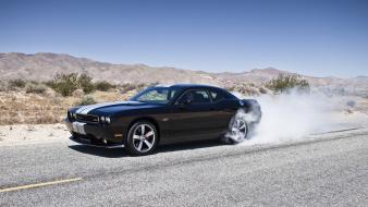 Dodge challenger srt8 burnout smoke vehicles wallpaper
