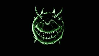 Doom abstract cacodemon demons green wallpaper