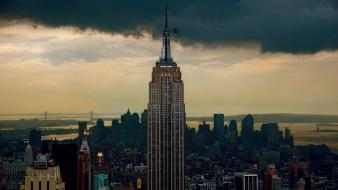 Empire state building new york city architecture buildings wallpaper