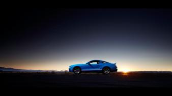 Ford mustang shelby gt500 muscle cars sunset wallpaper