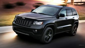 Grand cherokee jeep black cars concept art wallpaper