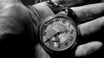 Hands monochrome pocket watch wallpaper