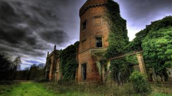 Hdr photography abandoned old buildings tower wallpaper