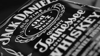 Jack daniels grayscale vintage whiskey wallpaper