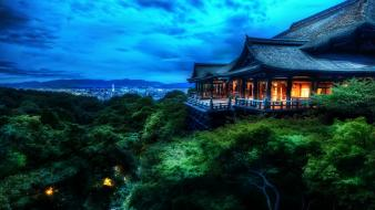 Japan japanese architecture kyoto temples treetop wallpaper