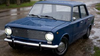 Lada 2101 russians blue cars old wallpaper