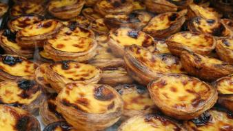 Pastel de nata portugal food Wallpaper
