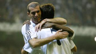 Raul real madrid santiago bernabeu zinedine zidane hero wallpaper