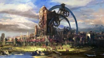 Tera online artwork cityscapes fantasy art wallpaper