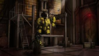 Warhammer 40k robots science fiction space marines wallpaper