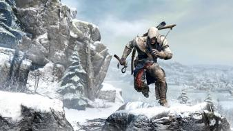 3 connor kenway mountains snow video games Wallpaper