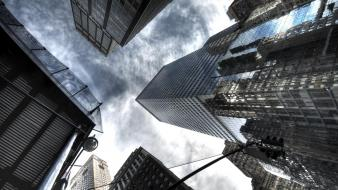 Architecture buildings cityscapes clouds skyscrapers wallpaper