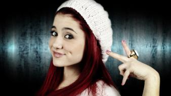 Ariana grande actress celebrity dimples redheads Wallpaper